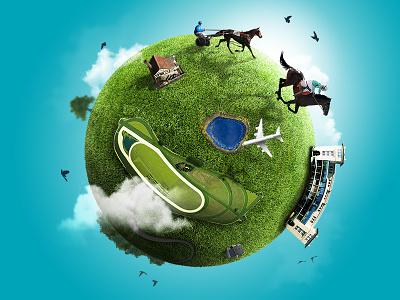 PMU : THE HORSE RACING EARTH pmu horse graphic design eath race racing
