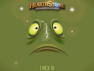 Hearthstone - I Hex U hearthstone hex blizzard frog illustration vector job ccg card gaming game