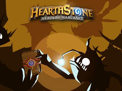 Hearthstone - Garrosh card gaming illustration game blizzard hearthstone job warcraft hero ccg garrosh murloc