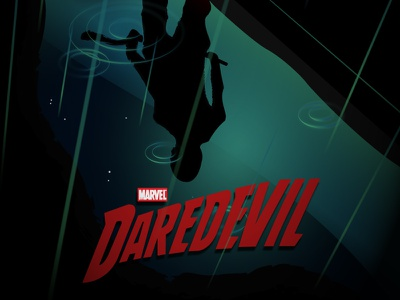 Daredevil [Full Vector] marvel daredevil netflix posterposse pp project movie serie vector illustrator