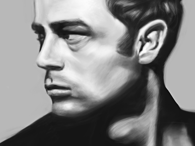 James Dean Painting  illustration drawing portrait art digital painting artist james dean digital portrait