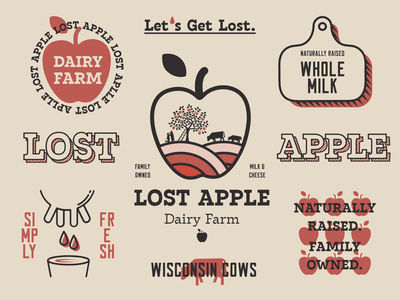Lost Apple Dairy Farm Logo Explorations