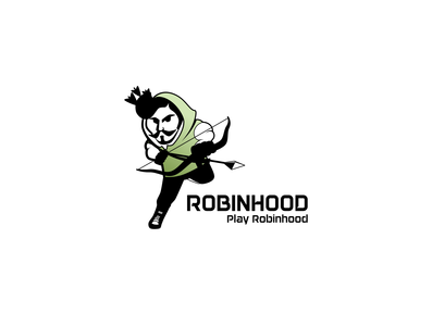 Modern robin-hood character logo related to sports