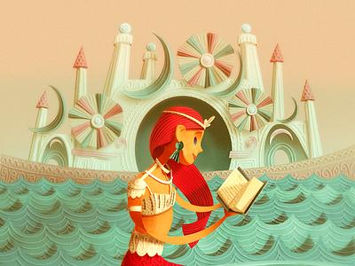 The Little Mermaid kidlitartist kidlitart poster characterdesign childrens illustration picturebook fantasyart illustration