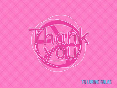 Thank you Lorine Colas - lrncls thank you dribbble