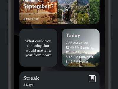 Day One Widgets widgets iphone dayone