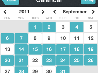 Day One iPhone Calendar calendar dayone