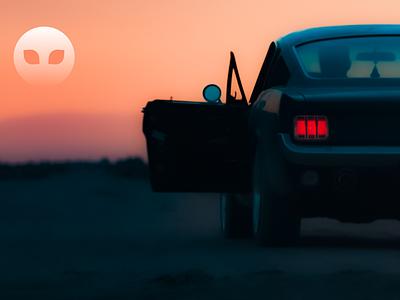 Billboard Advertising software rideshare ridehailing mobile lyft hitchhiking design concept carpool brand app