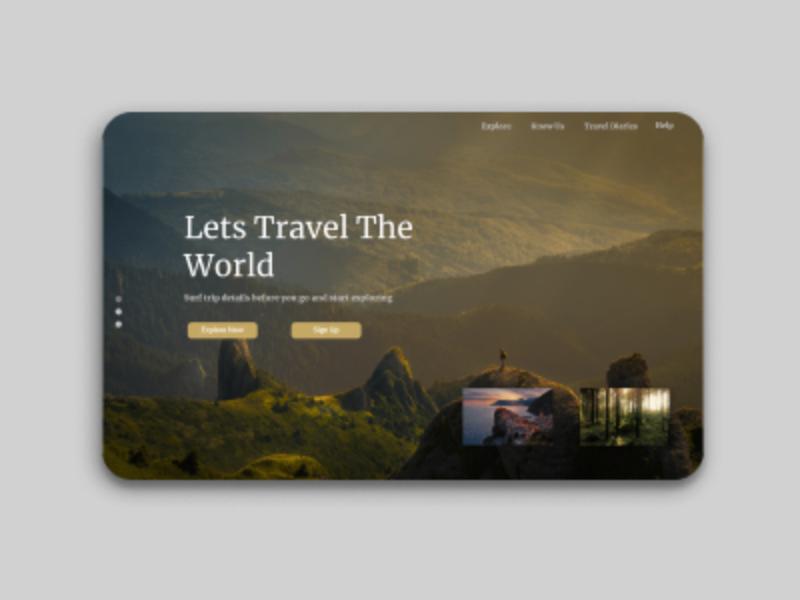 travel blog ui