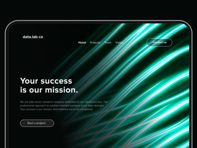 Landing page Neon