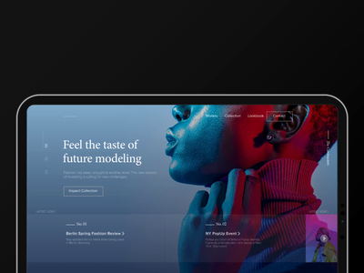 Modeling Agency Landing Page