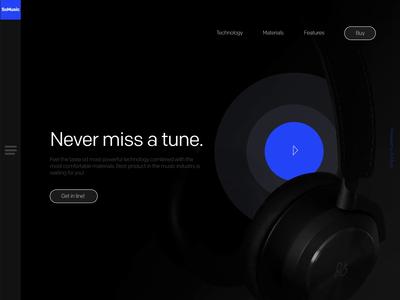 Headphones SoMusic Landing Page Prototype