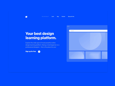 Design Learning platform Webpage
