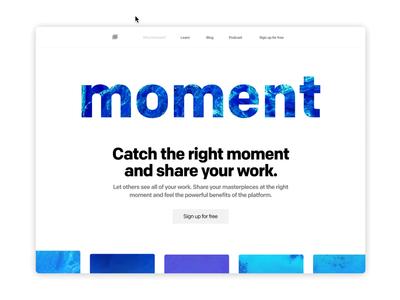 Prototype of Moment platform