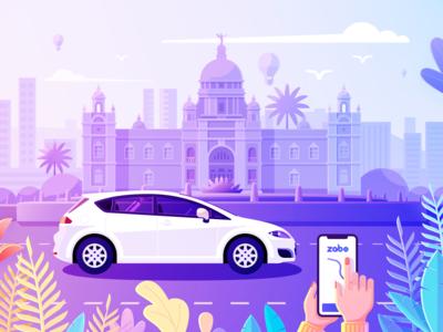 Car Tracking illustrations