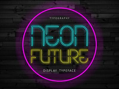 Neon Future Font font techno outline neon movies futuristic future famous awesome vector logo illustration design branding typography