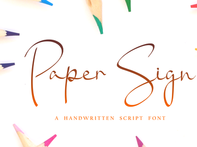 Paper Sign Font calligraphy font wedding signature script invitations handwriting famous cursive awesome graphic design minimal logo illustration design branding typography