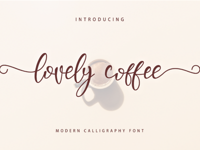 Lovely Coffee Font wedding typography script parties invitations handwriting font famous cursive calligraphy love
