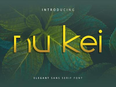 Nu Kei Font calligraphy font thin techno sans serif modern logo futuristic famous elegant typography graphic design