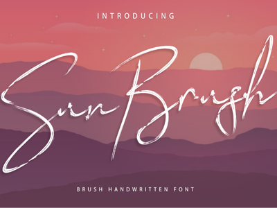 Sun Brush Font script modern handwriting font famous cursive brush awesome typography graphic design calligraphy