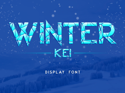 Winter Kei Font font winter movies mirror ice famous craked broken awesome typography graphic design calligraphy