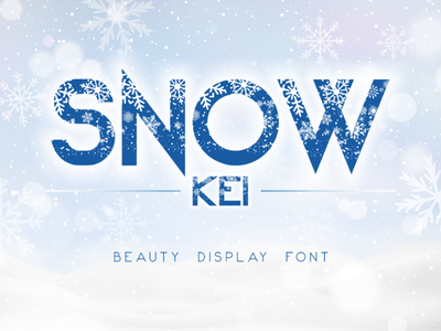 Snow Kei Font font winter snowflake snow modern holidays famous beautiful awesome typography graphic design calligraphy