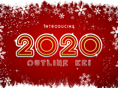 2020 Outline Kei Font font elegant winter techno outline futuristic display decorative bold typography graphic design calligraphy
