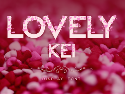 Lovely Kei Font pink romantic invitations wedding parties lovely lovely font love design illustration awesome graphic design famous typography font