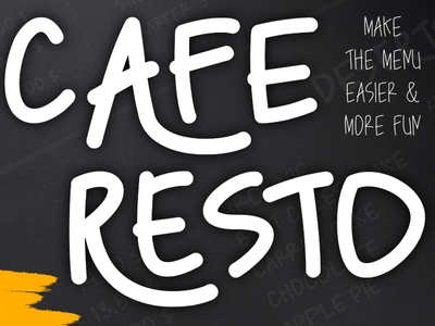 Caferesto Font handwriting illustration branding famous graphic design awesome typography font cuisine restaurant menu cafe coffee