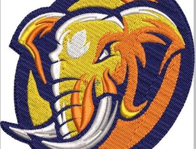Embroidery Digitized Animal Elephant Design convert your artworks to vector custom computerised embroidery logodesign custom embroidery digitizing custom digitization in usa