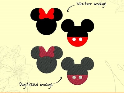 Micky   Mini Convert Vector to Embroidery files custom digitizing custom t-shirt desgn custom embroidery digitizing custom digitization in usa 14x16 inches 12x16 inches 4x4 inches