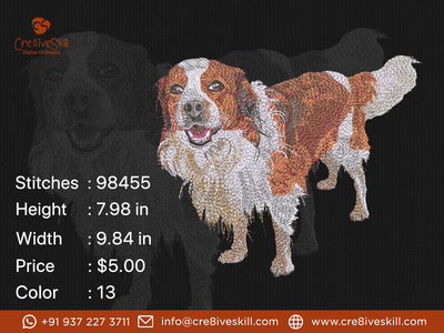 Spaniel Dog logodesign design vectorizing services embroidery digitizing convert your artworks to vector custom digitization in usa custom computerised embroidery custom embroidery digitizing custom digitizing custom t-shirt desgn