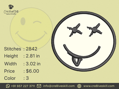 Cute Smiley vector logodesign vectorizing services embroidery digitizing convert your artworks to vector custom digitization in usa custom computerised embroidery custom embroidery digitizing custom digitizing custom t-shirt desgn