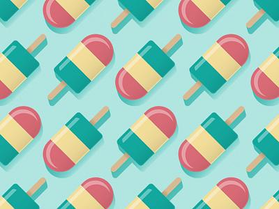 Ice Cream Pattern illustration geometric sweets pattern ice cream popsicle doodle
