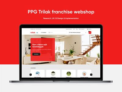 PPG Trilak franchise webshop coating ppg trilak room painting paint webshop illustration research ui design ux design product design