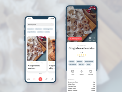 Recipe finder app for people with digestive disorders (concept)