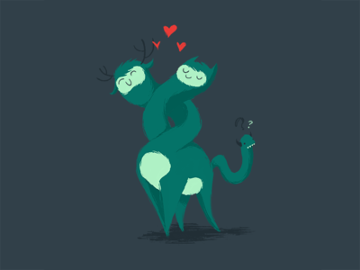 Chimera Love character chimera monster cute love creature