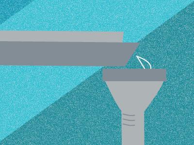 Gutter Detail posterdesign gutter illustration