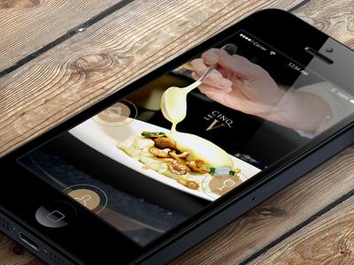 Elegant Restaurant app for iPhone