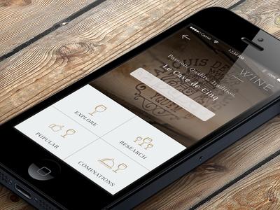 Elegant Restaurant app for iPhone - Wine