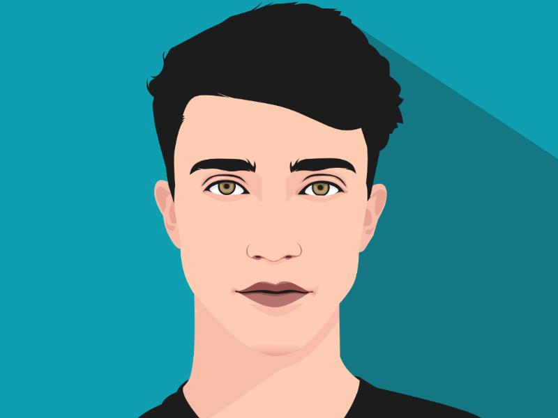 Flat Vector Portrait digitalart avatar flatdesign carachter portrait art vector flat