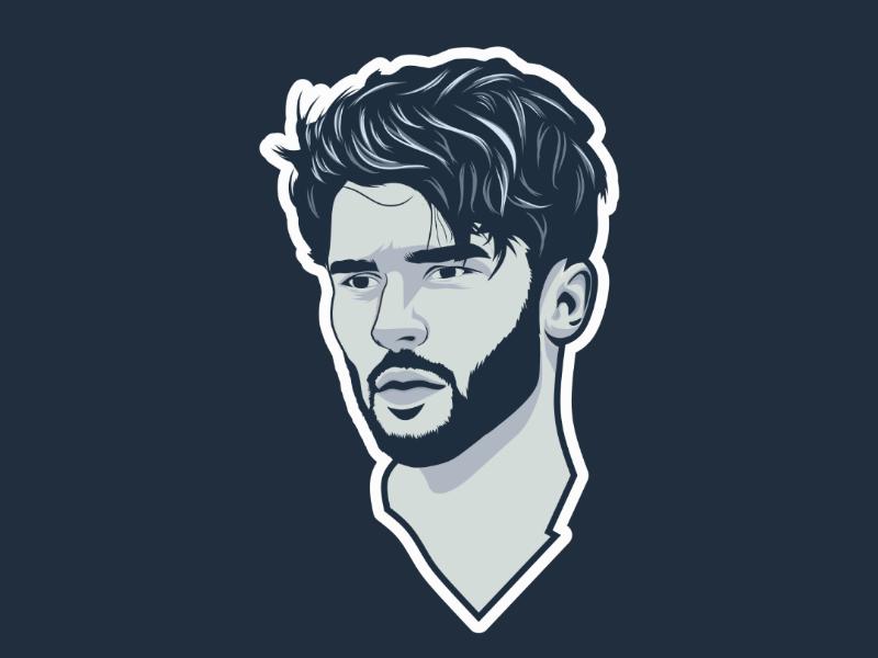Flat avatar vector lineart colorize draw cartoon vectorart avatar flat