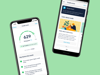See your credit score in Monzo 👀 score credit credit score illustration ux ui product design finance fintech bank app banking bank monzo