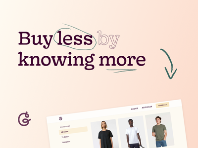 📣 Good Garms is live! ux brand ui side project bryn taylor climate change environment buy less brands design website webflow e-commerce ethical sustainability shopping fashion