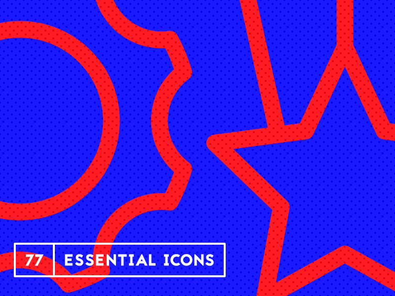 77 Essential Icons Pattern icon set free icons icon iconography freebie resources download free download bryn taylor ui essential icons