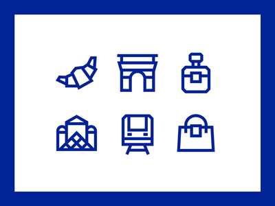Citysets — Paris paris free icons freebie icon set brand side project bryn taylor citysets cities travel