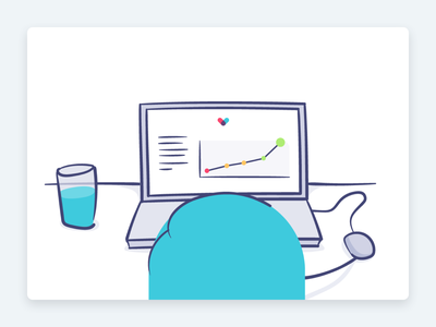 """Blog post — """"How to run smooth user testing sessions"""" ✍️ thriva product design illustration healthcare user testing testing writing blog"""