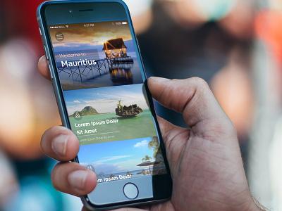 Tourism App minimul travel listing tourism app iphone