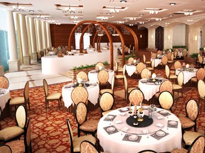 Restaurant Interior 3d architecture interior dinning.