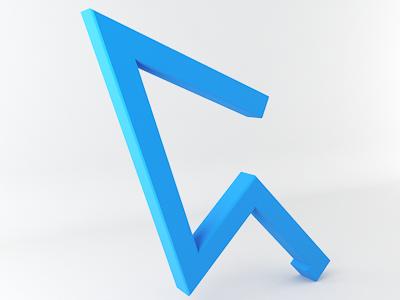 Spiral Click 3D 3d logo arrow